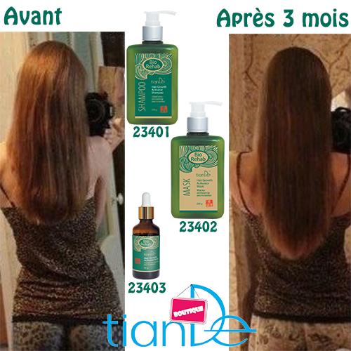 Shampoing activateur de pousse cheveux bio rehab tiande - Gommage corps avant ou apres la douche ...